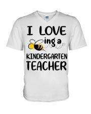 I Love being a kindergarten Teacher V-Neck T-Shirt thumbnail