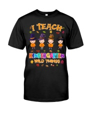 I TEACH KINDERGARTEN WILD THINGS Classic T-Shirt front