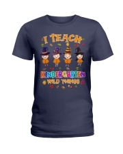 I TEACH KINDERGARTEN WILD THINGS Ladies T-Shirt thumbnail