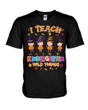 I TEACH KINDERGARTEN WILD THINGS V-Neck T-Shirt thumbnail