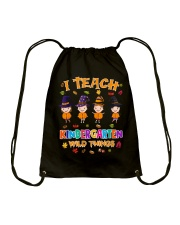 I TEACH KINDERGARTEN WILD THINGS Drawstring Bag thumbnail