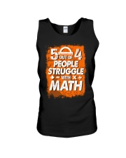 5 OUT OF 4 PEOPLE STRUGGLE WITH MATH Unisex Tank thumbnail