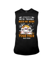 APPARENTLY WE'RE TROUBLE WHEN WE WORK TOGETHER Sleeveless Tee thumbnail