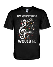 LIFE WITHOUT MUSIC WOULD V-Neck T-Shirt thumbnail