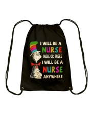 I Will be a Nurse anywhere Drawstring Bag tile