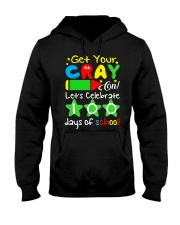 GET YOUR CRAYON LET'S CELEBRATE 100 DAYS OF SCHOOL Hooded Sweatshirt thumbnail