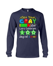 GET YOUR CRAYON LET'S CELEBRATE 100 DAYS OF SCHOOL Long Sleeve Tee thumbnail