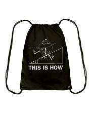 THIS IS HOW Drawstring Bag thumbnail