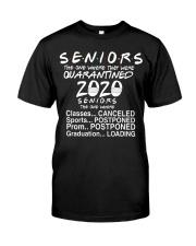 Seniors - Quarantined 2020 Classic T-Shirt front