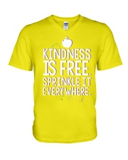 KINDNESS IS FRE SPRINKLE IT EVERY WHERE V-Neck T-Shirt thumbnail