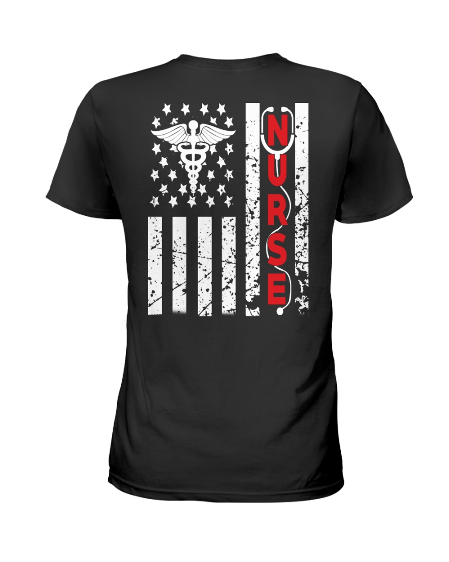 Nurse Flag Ladies T-Shirt