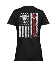Nurse Flag Ladies T-Shirt women-premium-crewneck-shirt-back