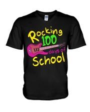 Rocking 100 days of School V-Neck T-Shirt thumbnail