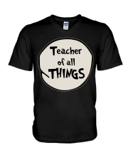 Teacher of all THINGS V-Neck T-Shirt thumbnail