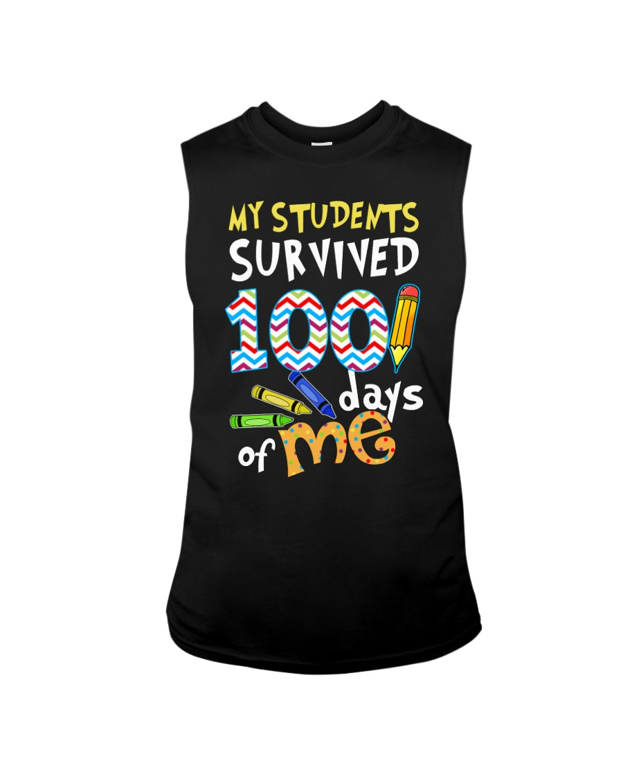 MY STUDENTS SURVIVED 100 DAYS OF ME Sleeveless Tee