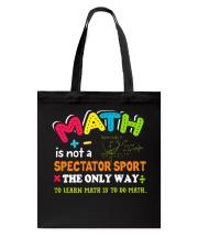 Math Teacher Tote Bag front