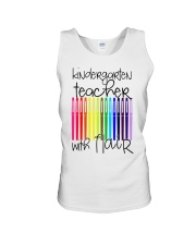 Kindergarten Teacher with Flair Unisex Tank front