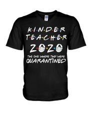 Kinder Teacher 2020 V-Neck T-Shirt thumbnail