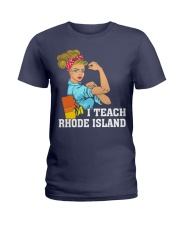 I TEACH RHODE ISLAND Ladies T-Shirt thumbnail
