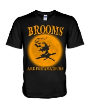 Brooms Are For Amateurs V-Neck T-Shirt thumbnail