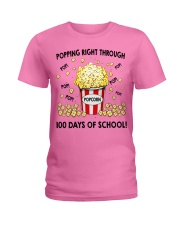 POPPING RIGHT THROUGH 100 DAYS OF SCHOOL Ladies T-Shirt thumbnail