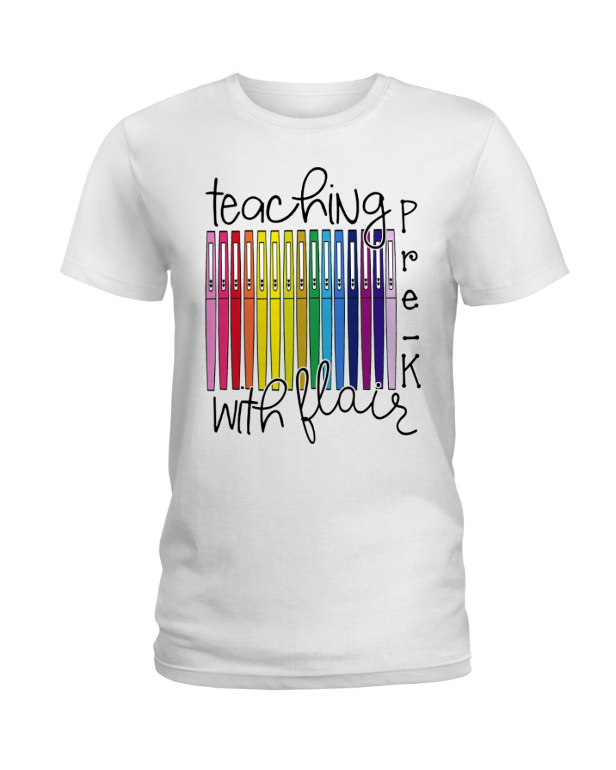 Teaching Pre-K With Flair Ladies T-Shirt