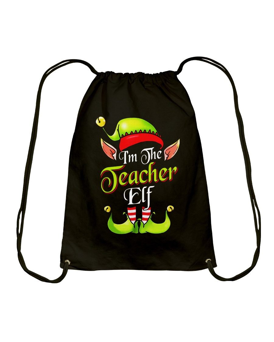 I'M THE TEACHER ELF Drawstring Bag