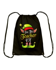 I'M THE TEACHER ELF Drawstring Bag front