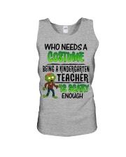 WHO NEEDS A COSTUME BEING A KINDERGARTEN TEACHER Unisex Tank thumbnail