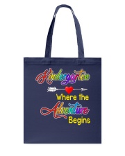 Kindergarten where the Adventure Begins Tote Bag tile