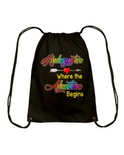 Kindergarten where the Adventure Begins Drawstring Bag thumbnail