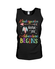 Kindergarten where the Adventure Begins Unisex Tank tile