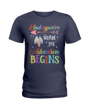 Kindergarten where the Adventure Begins Ladies T-Shirt tile