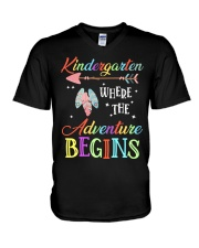Kindergarten where the Adventure Begins V-Neck T-Shirt thumbnail