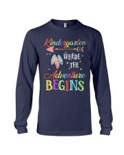 Kindergarten where the Adventure Begins Long Sleeve Tee thumbnail