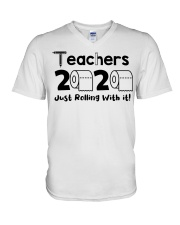 Teachers 2020 just rolling with it V-Neck T-Shirt thumbnail