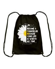 I became a Counselor Drawstring Bag thumbnail