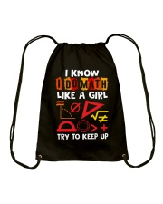 I know i do math like a girl Drawstring Bag front