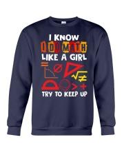 I know i do math like a girl Crewneck Sweatshirt thumbnail