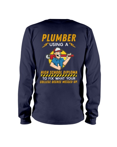 Plumber using a High school
