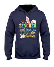 I'm a Teacher with Eggstra special Students Hooded Sweatshirt thumbnail