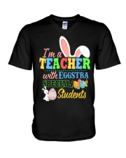 I'm a Teacher with Eggstra special Students V-Neck T-Shirt thumbnail