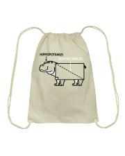 HIPPOPOTAMUS SHIRT Drawstring Bag thumbnail