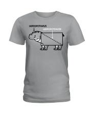 HIPPOPOTAMUS SHIRT Ladies T-Shirt thumbnail