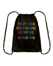 EVERY CHILD EVERY CHANCE EVERY DAY Drawstring Bag thumbnail