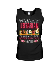 Books And Cats Unisex Tank thumbnail