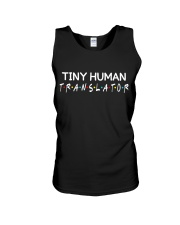 Tiny human translator Unisex Tank tile