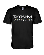 Tiny human translator V-Neck T-Shirt tile