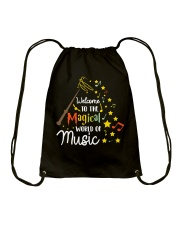 WELCOME TO THE MAGICAL WORLD OF MUSIC Drawstring Bag thumbnail