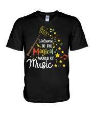 WELCOME TO THE MAGICAL WORLD OF MUSIC V-Neck T-Shirt thumbnail